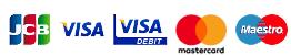 JCB VISA MasterCard Maestro
