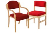 Wooden Frame Meeting Room Chairs