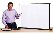 Tabletop Projection Screens