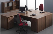 Malbec Walnut Office Desks