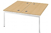Commerce II Bench Double Add On Desks
