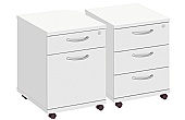 Commerce II White Desk Pedestals