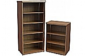 Sven Fulcrum Accent Real Wood Veneer Bookcases