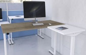 Accolade Sit-Stand Radial Desks