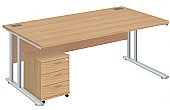 NEXT DAY Commerce II Deluxe Rectangular Desks