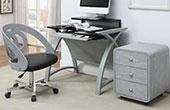 NEXT DAY Spectrum Grey Veneer Home Office Furniture