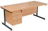 NEXT DAY Karbon Fixed Pedestal Desks