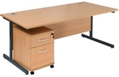 NEXT DAY Karbon Mobile Pedestal Desks