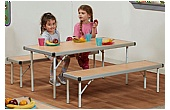 Fast Fold II Rectangular Table & Bench Sets