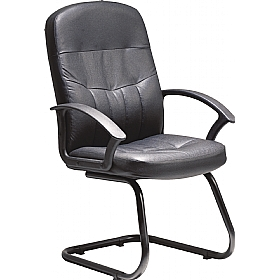 Cavalier Leather Faced Visitor Chair £94 - Office Chairs