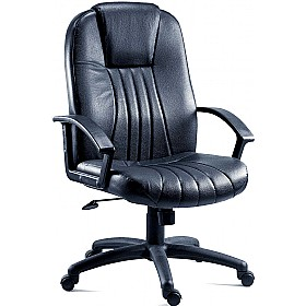 City Leather Faced Manager Chair £117 - Office Chairs