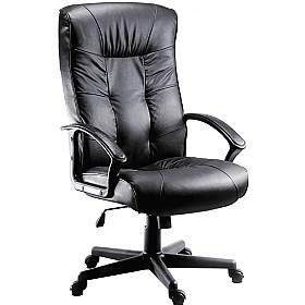 Gloucester Leather Faced Manager Chair £140 - Office Chairs