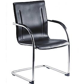 Guest Leather Effect Visitor Chair £76 - Office Chairs