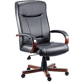Kingston Leather Faced Manager Chair £153 - Office Chairs