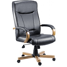 Kingston Leather Faced Manager Chair