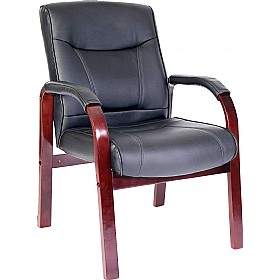 Kingston Leather Faced Visitor Chair