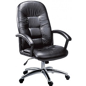 Oxford Leather Faced Manager Chair £148 - Office Chairs