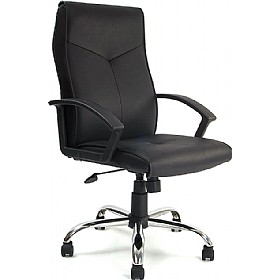 Oregon Leather Faced Manager chair £102 - Office Chairs