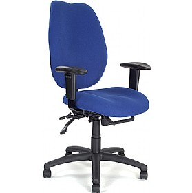 Rome 24 Hour Ergonomic High Back Operator Chair £181 - Office Chairs