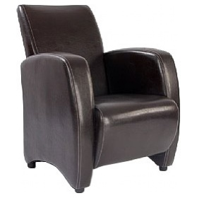 Norfolk Chocolate Leather Look Armchair £233 - Reception Furniture
