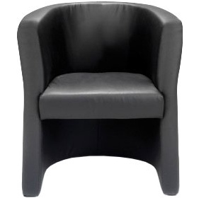New York Leather Faced Tub Chair £181 -