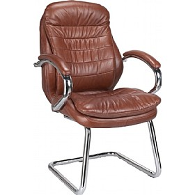 Prague Leather Faced Visitor Chair £195 - Office Chairs
