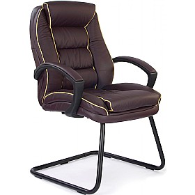 Rome Leather Faced Visitor Chair £165 - Office Chairs