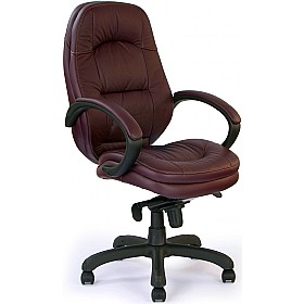 Texas Leather Faced Manager Chair £175 - Office Chairs