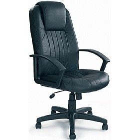 Kent Leather Faced Manager Chair £114 - Office Chairs