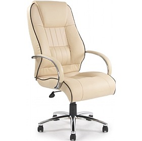 Plymouth Cream Leather Faced Manager Chair £216 - Office Chairs