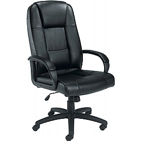 Keno Leather Faced Manager Chair £131 - Office Chairs