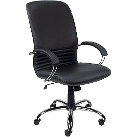 Mirage Leather Faced Manager Chair £176 - Office Chairs