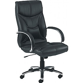 Whist Leather Faced Manager Chair £259 - Office Chairs