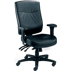 Marathon 24 Hour Leather Faced Chair £245 - Office Chairs