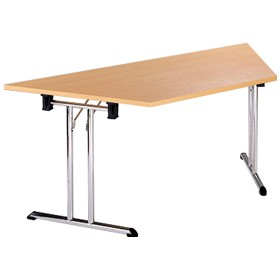 Braemar Trapezoidal Chrome Folding Tables £161 - Meeting Room Furniture