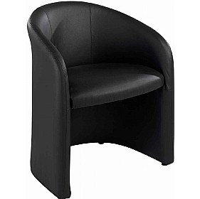 Lyon Leather Faced Tub Chair £373 - Reception Furniture