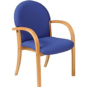 Saturn Beech Veneer Visitor Armchair £173 - Reception Furniture