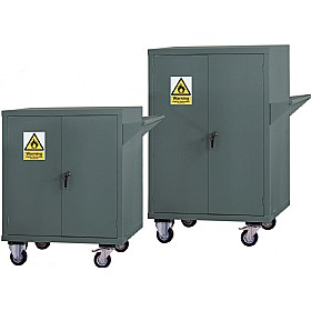 Mobile Flammable Storage Cupboards - Grey £490 - Office Cupboards