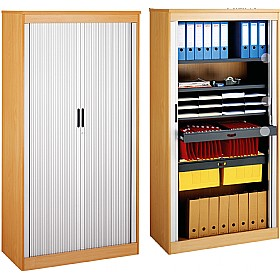 System Storage Tambour Door Cupboards £341 - Office Cupboards