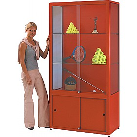 Shield® Tower Display Cabinet With Cupboard £1772 - Display/Presentation