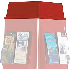 4 Sided Revolving Leaflet Dispenser Optional Header £46 - Display/Presentation