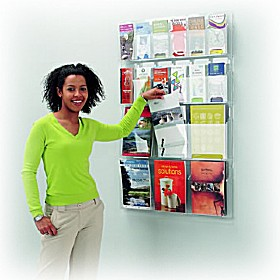 All Clear Wall Mounted Leaflet Dispensers £155 - Display/Presentation