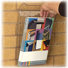 External Acrylic Wall Mounted Leaflet Dispensers £40 - Display/Presentation