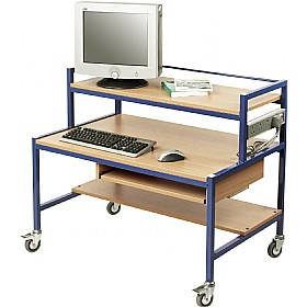 Fixed Height Two Tier Computer Trolleys £267 - Computer Desks