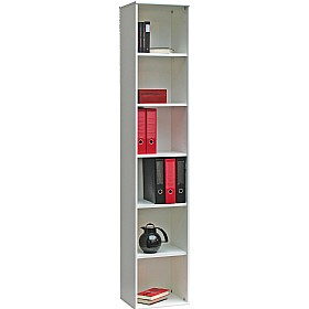 Black & White Home Office Narrow Bookcase (White) £146 - Home Office Furniture