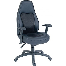 Rapide Executive Leather Faced Office Chair £219 - Office Chairs