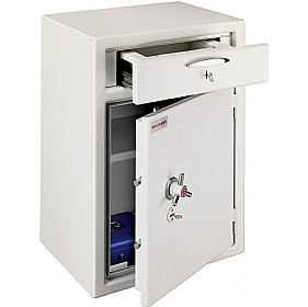 Securikey Steel Stor With Large Lockable Deposit Drawer £0 - Burglary / Fire Safes