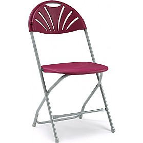 NEXT DAY Fan Back Folding Chair (Pack of 8) £17.625 - Office Chairs