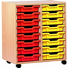 16 Tray Shallow Storage £0 - Education Furniture