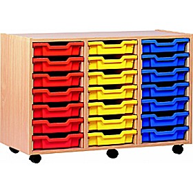 21 Tray Shallow Storage £0 - Education Furniture